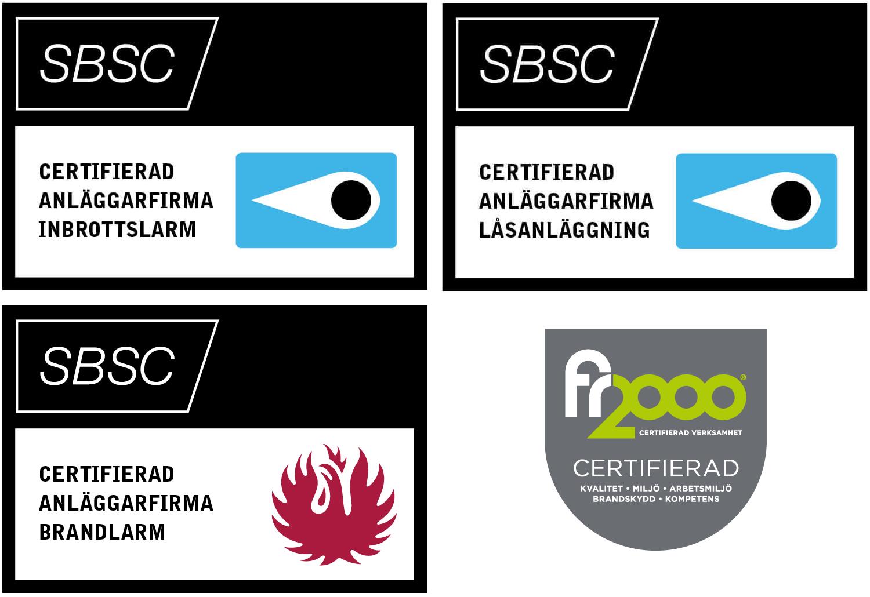 Norrskydd är certifierade enligt SBSC